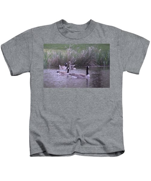 A Frolicsome Goosling Kids T-Shirt