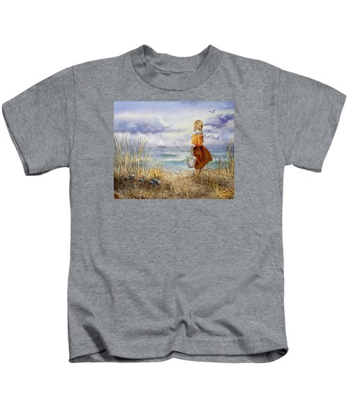 A Girl And The Ocean Kids T-Shirt