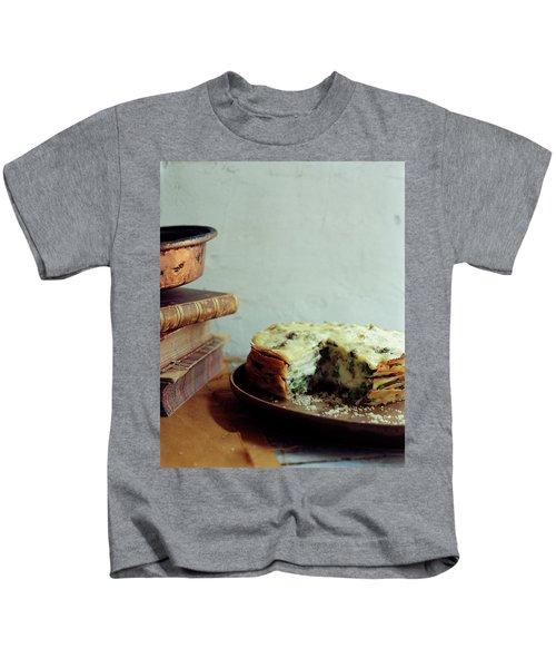 A Gourmet Torte Kids T-Shirt by Romulo Yanes