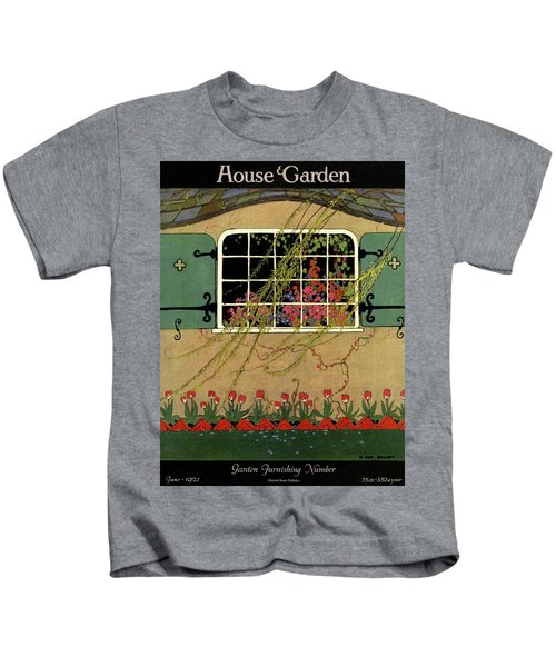 A House And Garden Cover Of A Window Kids T-Shirt
