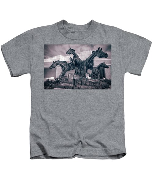 A Monument To Freedom II Kids T-Shirt by Joan Carroll