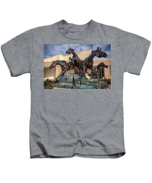 A Monument To Freedom Kids T-Shirt by Joan Carroll