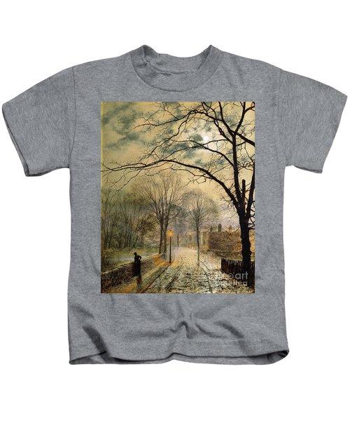A Moonlit Stroll Bonchurch Isle Of Wight Kids T-Shirt