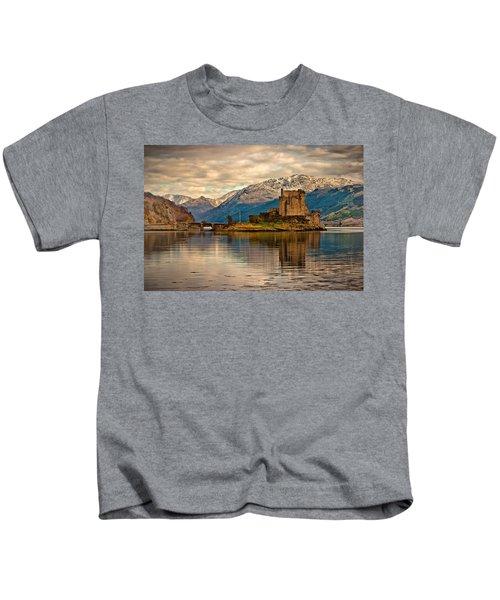A Reflection At Eilean Donan Castle Kids T-Shirt