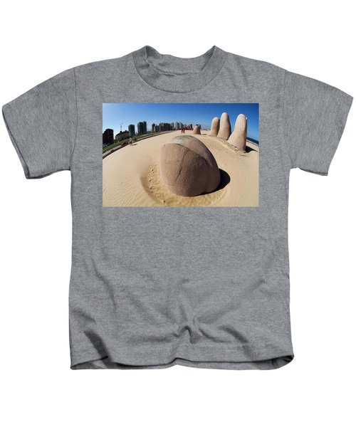 A Sculpture Of A Hand Mirrors Kids T-Shirt