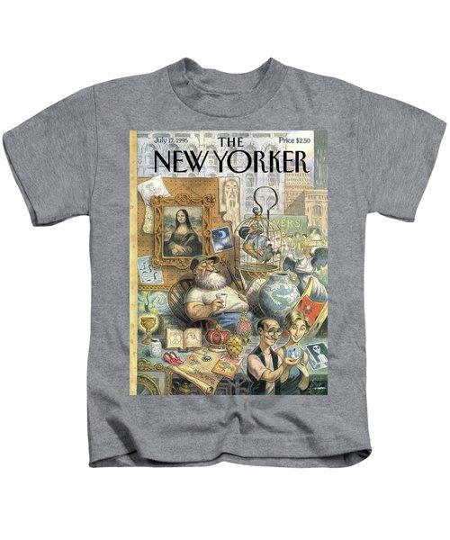 A Shopkeeper Sells Odd Items Kids T-Shirt