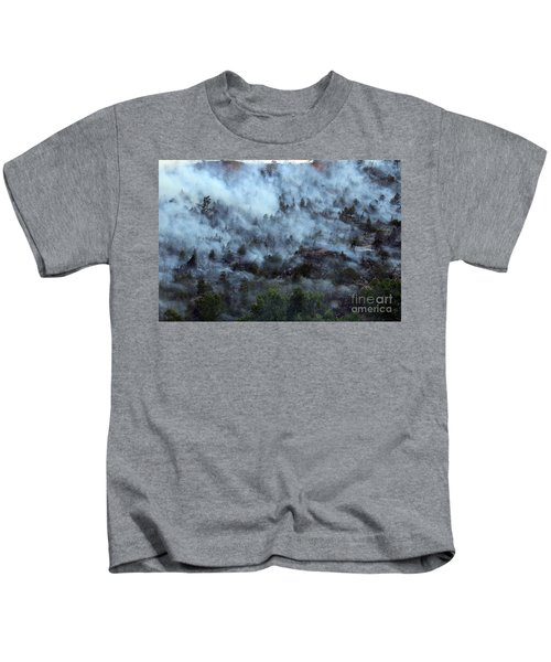 A Smoky Slope On White Draw Fire Kids T-Shirt