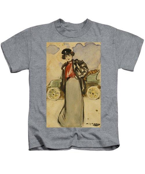 A Woman Driver Kids T-Shirt
