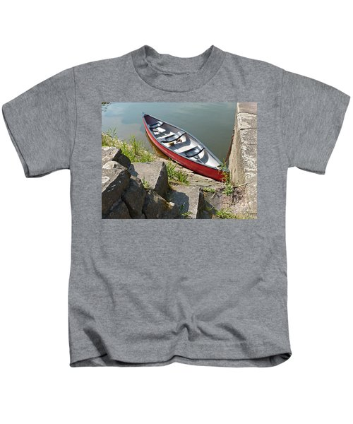 Abandoned Boat At The Quay Kids T-Shirt