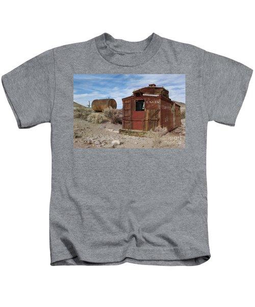 Abandoned Caboose Kids T-Shirt