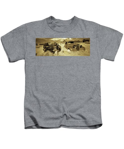 Abandoned Car In A Ghost Town, Bodie Kids T-Shirt