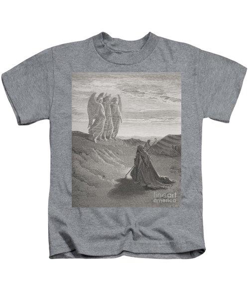 Abraham And The Three Angels Kids T-Shirt