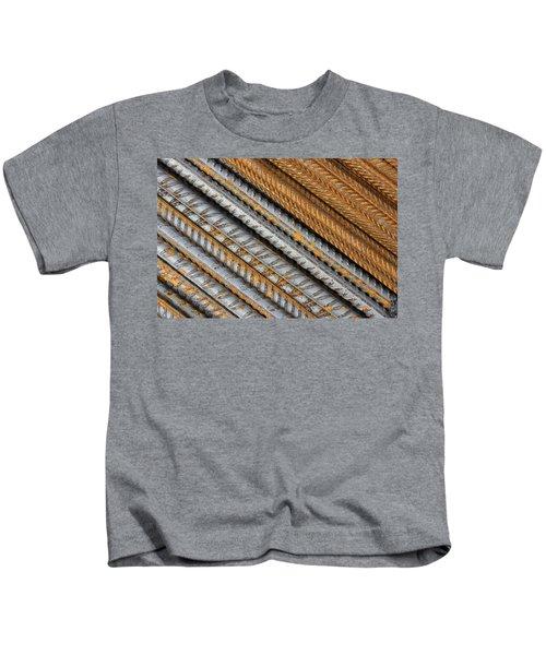 Abstract Metal Texture Pattern Kids T-Shirt