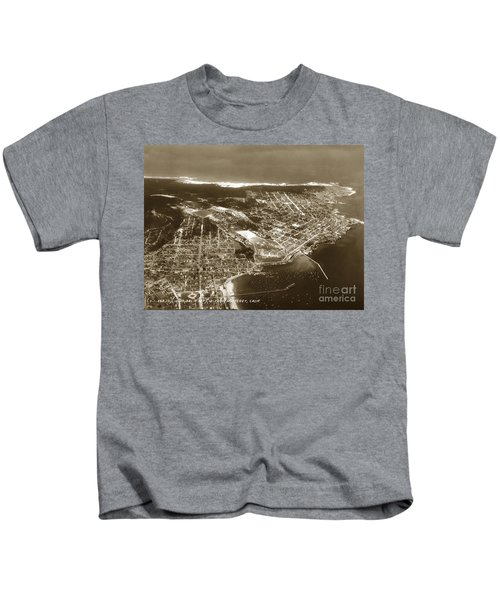 Aerial  Of Monterey Calif. Oct. 25 1934 Kids T-Shirt