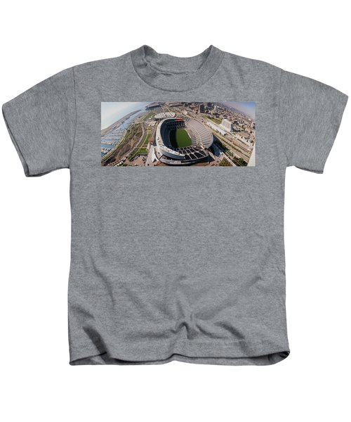 Aerial View Of A Stadium, Soldier Kids T-Shirt by Panoramic Images
