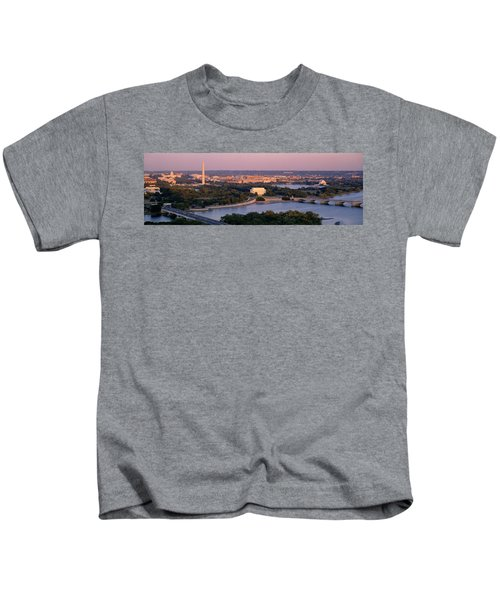 Aerial, Washington Dc, District Of Kids T-Shirt by Panoramic Images