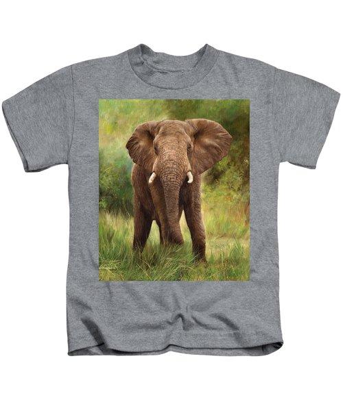 African Elephant Kids T-Shirt