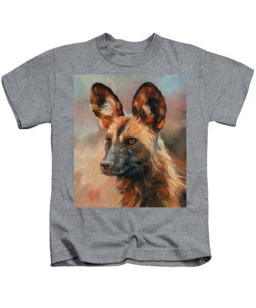 African Wild Dog Kids T-Shirt