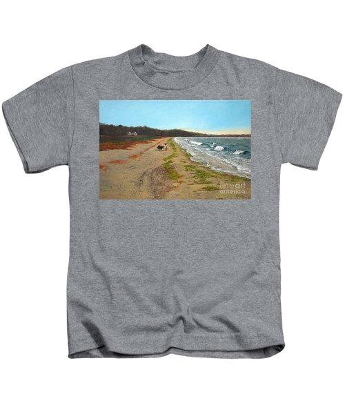 Along The Shore In Hyde Hole Beach Rhode Island Kids T-Shirt