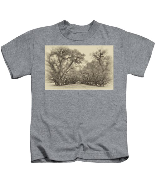 And Time Stood Still Sepia Kids T-Shirt