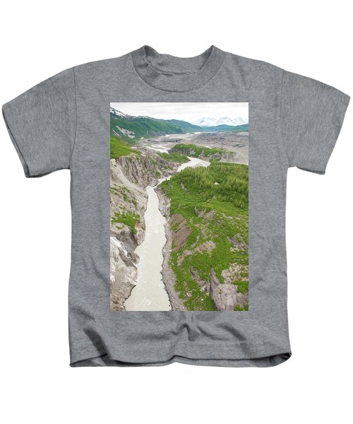 Arial View Of Turnback Canyon, Alsek Kids T-Shirt