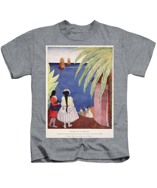 Arrival Of The French Frigates Kids T-Shirt