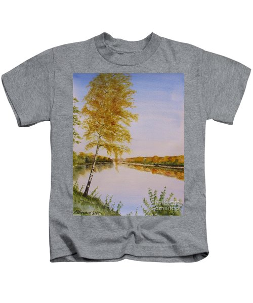 Autumn By The River Kids T-Shirt