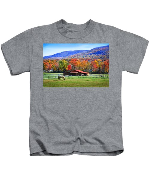Autumn In Rural Virginia  Kids T-Shirt