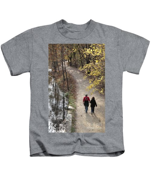 Autumn Walk On The C And O Canal Towpath Kids T-Shirt