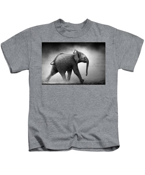 Baby Elephant Running Kids T-Shirt