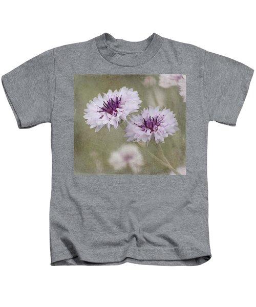 Bachelor Buttons - Flowers Kids T-Shirt