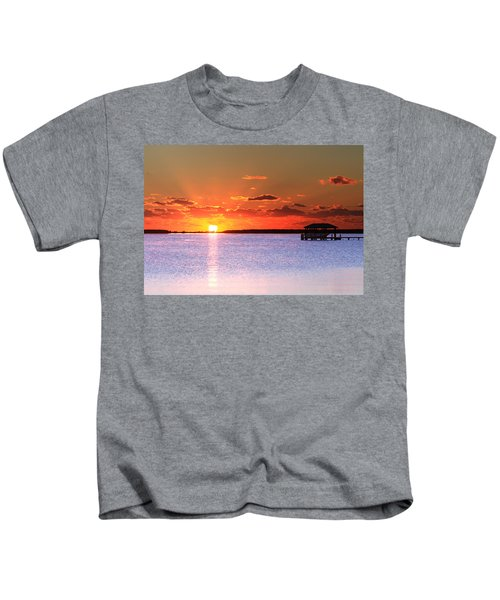 Back Bay Sunrise Kids T-Shirt