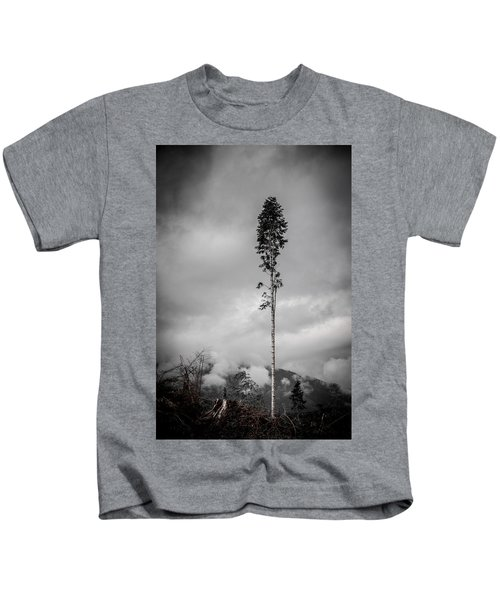 Lone Tree Landscape  Kids T-Shirt