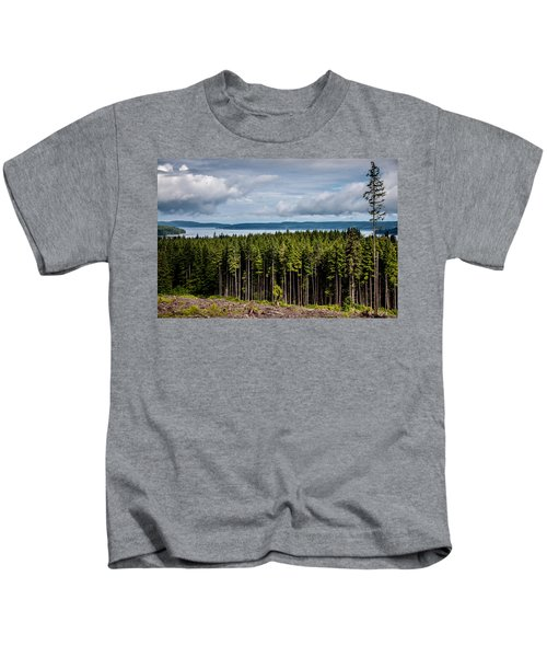 Logging Road Landscape Kids T-Shirt