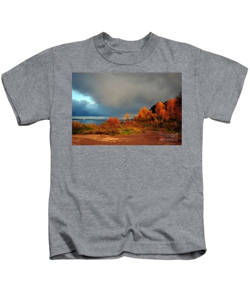 Bad Weather Coming Kids T-Shirt