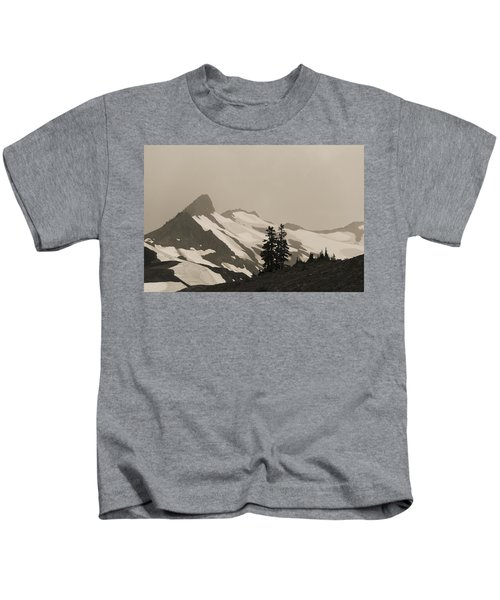 Fog In Mountains Kids T-Shirt