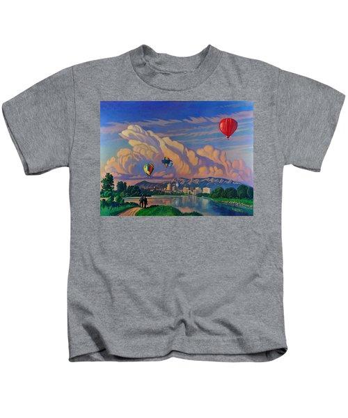 Ballooning On The Rio Grande Kids T-Shirt