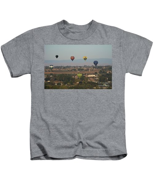 Balloons Over The Valley Kids T-Shirt