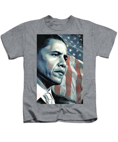 Barack Obama Artwork 2 B Kids T-Shirt