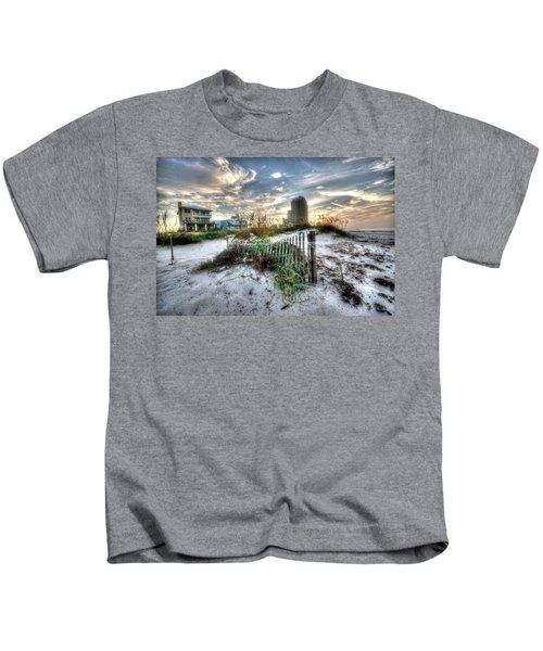 Beach And Buildings Kids T-Shirt