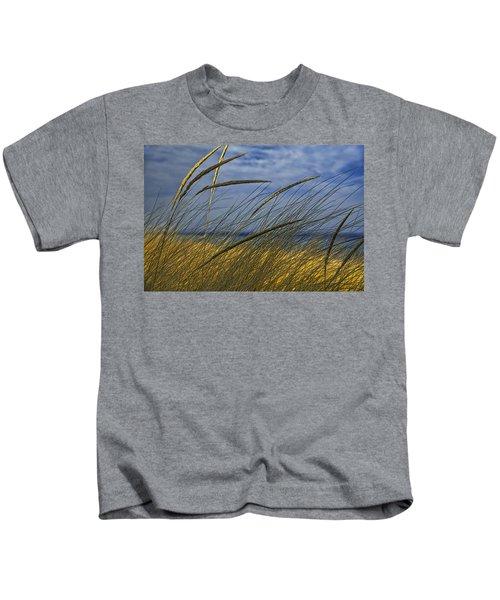 Beach Grass On A Sand Dune At Glen Arbor Michigan Kids T-Shirt