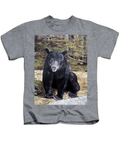 Bear - Wildlife Art - Ursus Americanus Kids T-Shirt