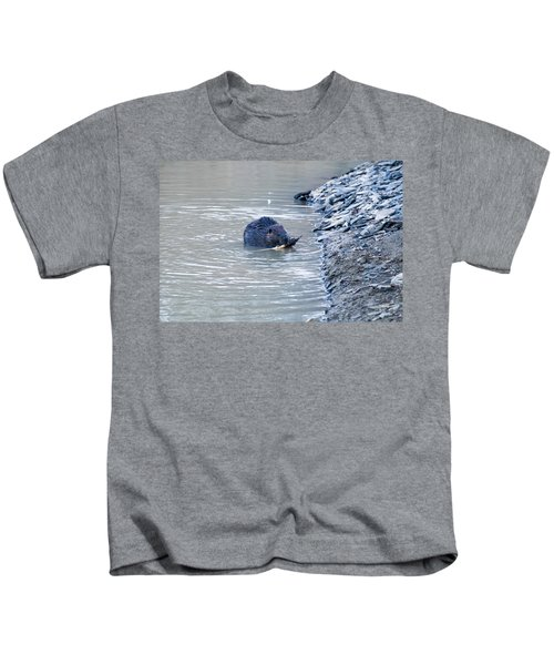 Beaver Chews On Stick Kids T-Shirt