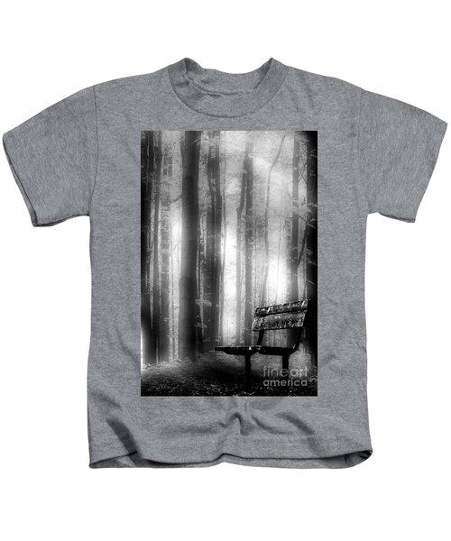 Bench In Michigan Woods Kids T-Shirt