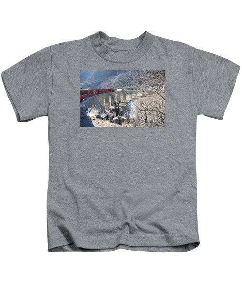 Bernina Express In Winter Kids T-Shirt