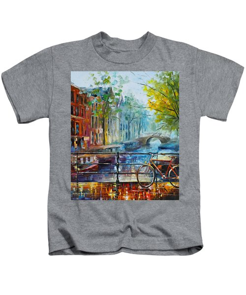 Bicycle In Amsterdam Kids T-Shirt