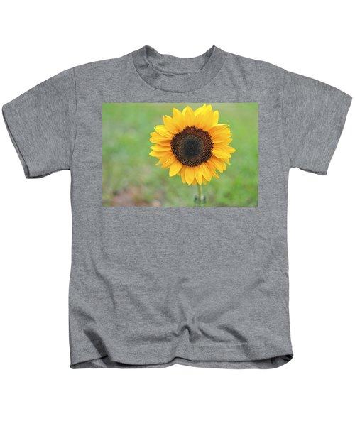 Big Bright Yellow Colorful Sunflower Art Print Kids T-Shirt