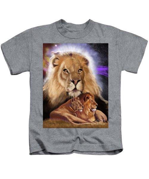 Third In The Big Cat Series - Lion Kids T-Shirt
