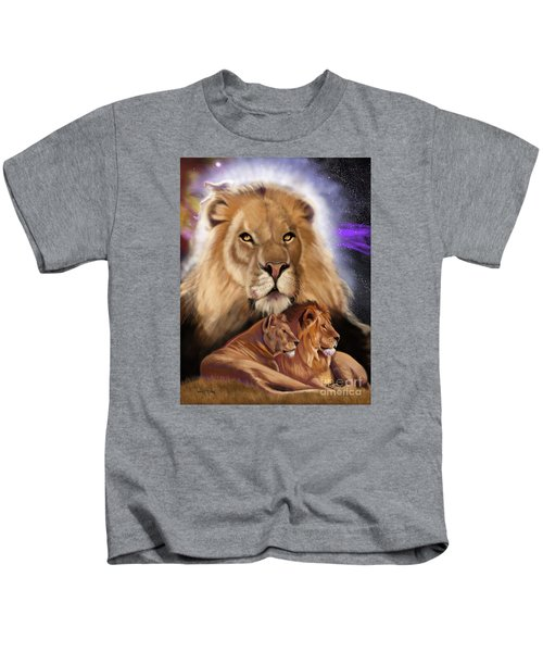 Third In The Big Cat Series - Lion Kids T-Shirt