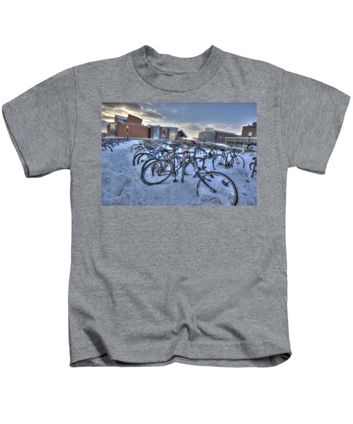 Bikes At University Of Minnesota  Kids T-Shirt